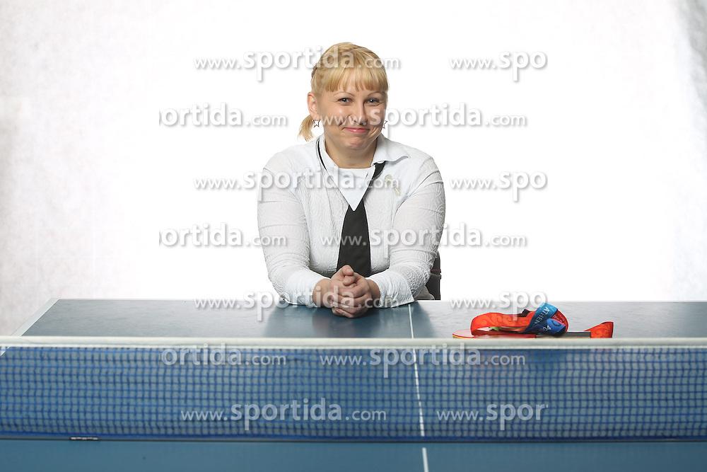 Mateja Pintar of Slovenia, Table Tennis paralympic medalist on January 12, 2012 in Ljubljana, Slovenia. Photo by Vid Ponikvar / Sportida.com.