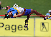 GERMISTON, SOUTH AFRICA, Friday 29 March 2012, an athlete from the Western Cape in the high jump during the Yellow Pages South African Junior and Schools Athletic Championships at the Germiston Stadium..Photo by Roger Sedres/Image SA