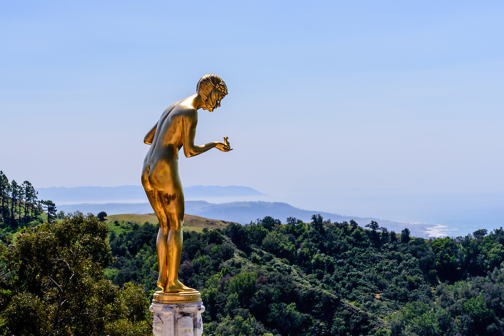 Statue, Hearst Castle is a National and California Historical Landmark mansion located on the Central Coast of California, United States. It was designed by architect Julia Morgan between 1919 and 1947[3] for newspaper magnate William Randolph Hearst