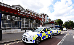 © Licensed to London News Pictures. 17/06/2015. <br /> LONDON, UK. A murder investigation has been launched following the death of a man in south London. Police were called to reports of a seriously injured man at Kings College Hospital in the early hours of this morning. He was pronounced dead shortly after, London, Wednesday 17 June 2015. Photo credit : LNP