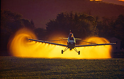 Plane Spraying Field Agriculture