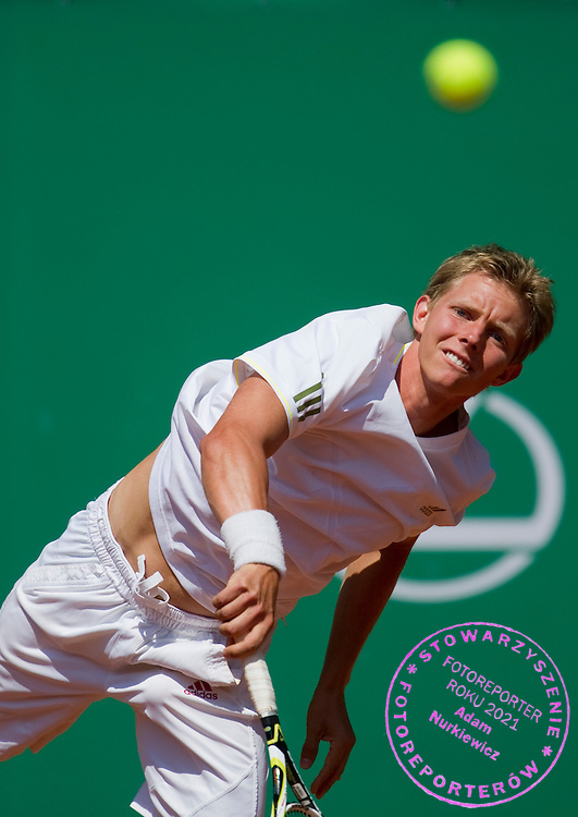 MATEUSZ SZMIGIEL (POLAND) COMPETES DURING THE MEN'S SINGLES QUALIFICATION TOURNAMENT BEFORE BNP PARIBAS POLISH OPEN AT TENNIS CLUB IN SOPOT, POLAND...POLAND, SOPOT , JULY 09, 2011..( PHOTO BY ADAM NURKIEWICZ / MEDIASPORT )..PICTURE ALSO AVAIBLE IN RAW OR TIFF FORMAT ON SPECIAL REQUEST.