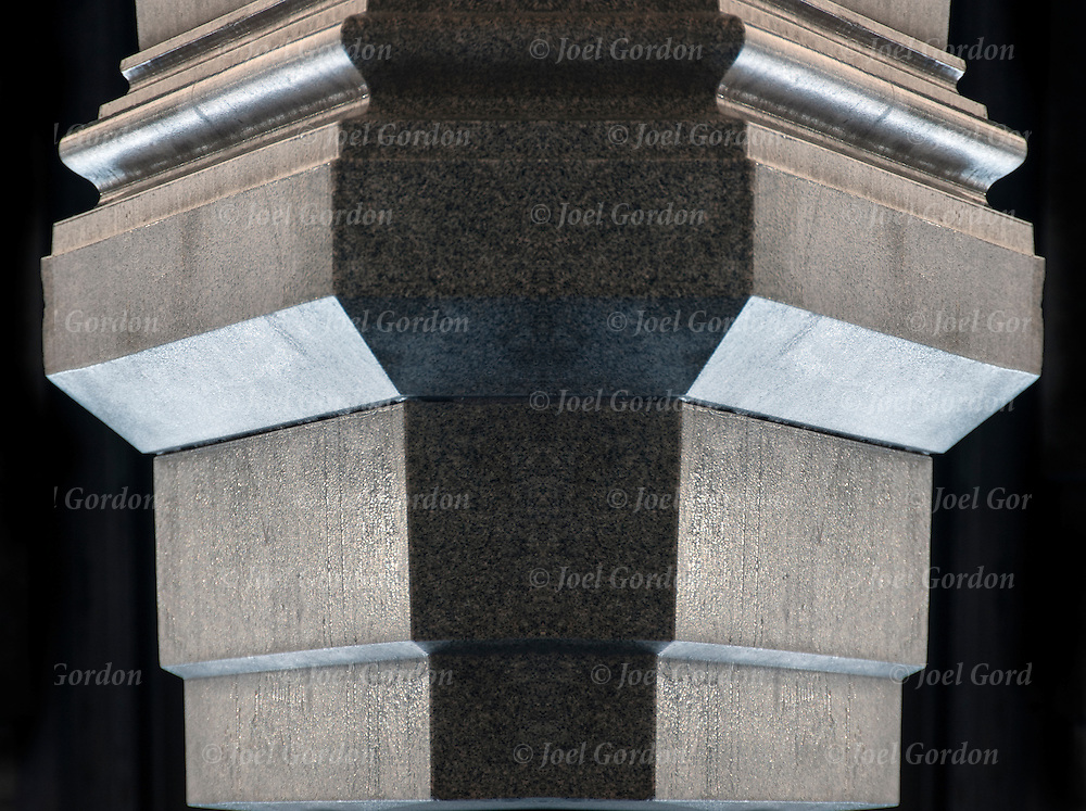 Architectural detail of  support base of column.<br />