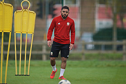 NEWPORT, WALES - Thursday, March 21, 2019: Wales' Cole Dasilva during an Under-21 training session at Dragon Park. (Pic by David Rawcliffe/Propaganda)