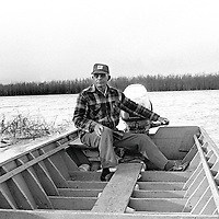 """""""Mr. Fred"""" Couey was a lifelong scholar of the Mississippi River. Sitting in his wooden boat, he too looked as though he was built from tall, sturdy Delta trees."""