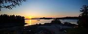 Sunset, Talon Lodge, Sitka, Alaska
