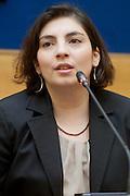2013/03/19 Roma, conferenza stampa del Movimento 5 Stelle. Nella foto Laura Castelli.<br /> Rome, Movimento 5 Stelle (reading Five Stars Movement) press conference. In the picture Laura Castelli  - &copy; PIERPAOLO SCAVUZZO