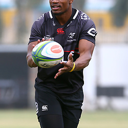 DURBAN, SOUTH AFRICA - JANUARY 23: Makazole Mapimpi during the Cell C Sharks training session at Growthpoint Kings Park on January 23, 2018 in Durban, South Africa. (Photo by Steve Haag/Gallo Images)