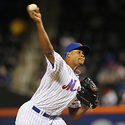 NEW YORK, NEW YORK - APRIL 12: Pitcher Jeurys Familia, New York Mets, pitching during the Miami Marlins Vs New York Mets MLB regular season ball game at Citi Field on April 12, 2016 in New York City. (Photo by Tim Clayton/Corbis via Getty Images)