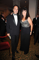 Author ANTHONY HOROWITZ and his wife JILL at a gala dinner in celebration of 80 years since the first Foyles Literary Luncheon, held in The Ball Room, Grosvenor House Hotel, Park Lane, London on 21st October 2010.