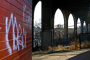 Highbridge Park during a photowalk. Photos taken during a photowalk of Highbridge Park in January of 2008, before it closed for renovation.