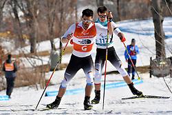 MESSINGER Nico GER B2 Guide: KLAUSMANN Lutz Peter competing in the ParaBiathlon, Para Biathlon at  the PyeongChang2018 Winter Paralympic Games, South Korea.