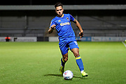 AFC Wimbledon attacker Harry Forrester (11) dribbling and aboput to cross for AFC Wimbledon striker Cody McDonald (10) to score during the EFL Trophy match between Barnet and AFC Wimbledon at Underhill Stadium, London, England on 29 August 2017. Photo by Matthew Redman.