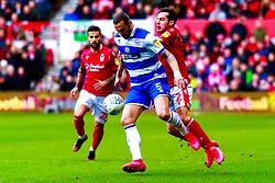 Yuri Ribeiro of Nottingham Forest puts pressure on Geoff Cameron of Queens Park Rangers - Mandatory by-line: Ryan Crockett/JMP - 22/02/2020 - FOOTBALL - The City Ground - Nottingham, England - Nottingham Forest v Queens Park Rangers - Sky Bet Championship