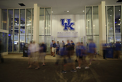 Fans stream into the new Commonwealth Stadium before,The University of Kentucky hosted Louisiana-Lafayette , Saturday, Sept. 05, 2015 at Commonwealth Stadium in Lexington. Photo by Jonathan Palmer