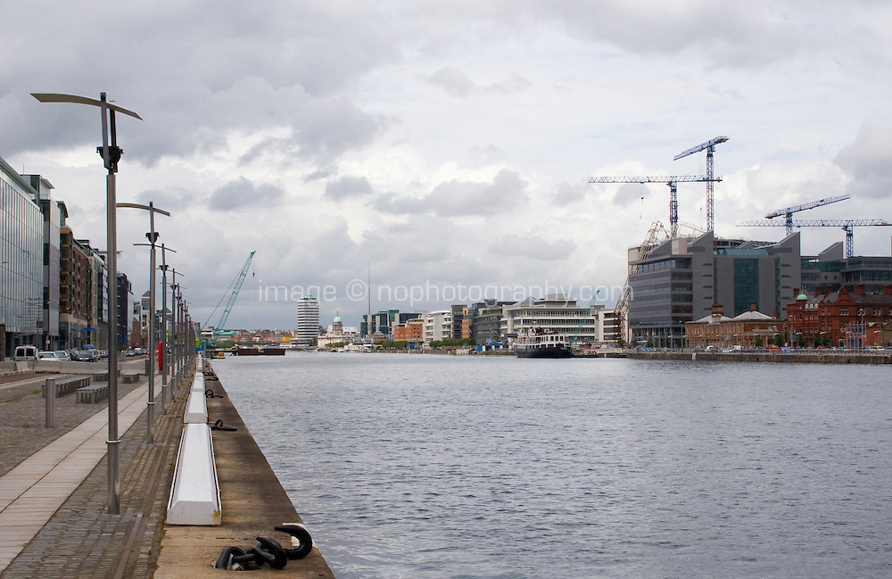 View of the River Liffey from Dublin's docklands, Ireland
