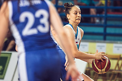 Zala Friskovec of Slovenia  vs Angelika Slamova of Slovakia during Women's Basketball - Slovenia vs Slovaska on the 14th of June 2019, Dvorana Poden, Skofja Loka, Slovenia. Photo by Matic Ritonja / Sportida