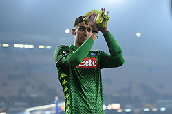 February 21, 2019 - Naples, Naples, Italy - Alex Meret of SSC Napoli during the UEFA Europa League Round of 32 Second Leg match between SSC Napoli and FC Zurich at Stadio San Paolo Naples Italy on 21 February 2019. (Credit Image: © Franco Romano/NurPhoto via ZUMA Press)