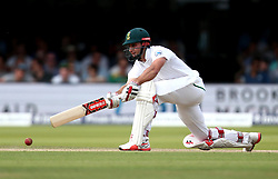 Thesis de Bruyn of South Africa plays a sweep shot - Mandatory by-line: Robbie Stephenson/JMP - 07/07/2017 - CRICKET - Lords - London, United Kingdom - England v South Africa - Investec Test Series