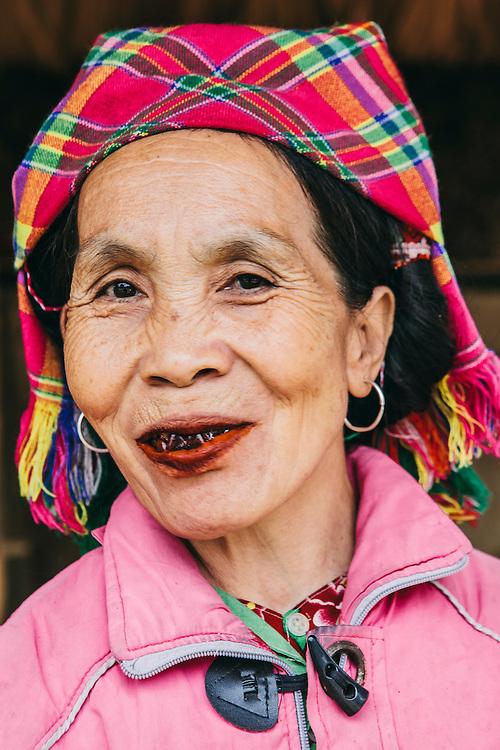 Ethnic Hmong lady along the road towards Bac Ha, Vietnam