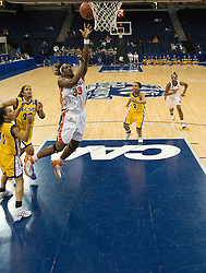 Virginia center Aisha Mohammed (33) shoots against UCSB.  The #4 seed/#24 ranked Virginia Cavaliers defeated the #13 seed Santa Barbara Gauchos 86-52 in the first round of the 2008 NCAA Division 1 Women's Basketball Championship at the Ted Constant Convocation Center in Norfolk, VA on March 23, 2008