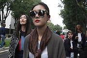 Outside Armani theatre where takes place Armani fashion show during annual Milan Fashion Week, Milan 23 Sept. 2016. © Carlo Cerchioli