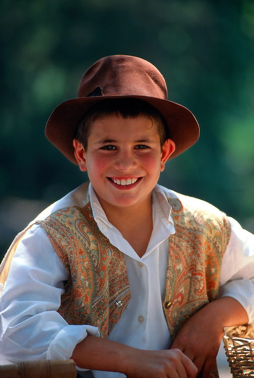 Portuguese boy in native costume, Queluz (near Lisbon), Portugal