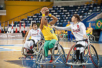 Toronto, Ontario, Canada. 23rd June, 2014. World Women's Wheelchair Basketball Championships, Mattamy Athletic Centre, Toronto Ontario, Canada, Brazil v Japan - Lia Maria Soares Martins (BRA) shoots over Mayumi Tsuchida (JAP) © Peter Llewellyn/Alamy Live News