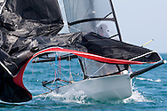 Martin and Neale Jones rounding the leeward mark during the 2008 POW Cup Race at Weymouth