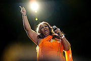 NEW ORLEANS, LA - JULY 08:  Aretha Franklin performs during the 2012 Essence Music Festival at Louisiana Superdome on July 8, 2012 in New Orleans, Louisiana.  (Photo by Erika Goldring/Getty Images) *** Local Caption *** Aretha Franklin