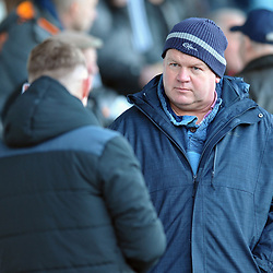 TELFORD COPYRIGHT MIKE SHERIDAN AFC Telford fans during the Vanarama Conference North fixture between AFC Telford United and Brackley Town at the New Bucks Head on Saturday, January 4, 2020.<br /> <br /> Picture credit: Mike Sheridan/Ultrapress<br /> <br /> MS201920-039