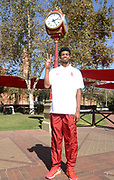 Oct 5, 2016; Los Angeles, CA, USA; Southern California Trojans high jumper Randall Cunningham poses at portrait session.