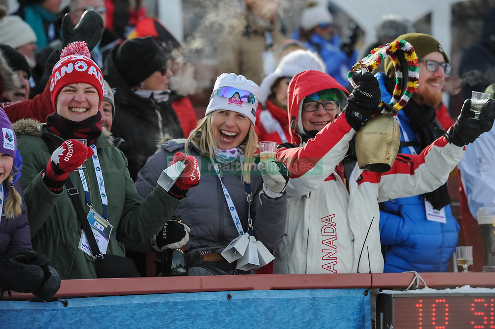 February 8, 2019 - Calgary, Alberta, Canada - Fans from Canada cheer for their team competing during Men's Relay of 7 BMW IBU World Cup Biathlon 2018-2019. Canmore, Canada, 08.02.2019 (Credit Image: © Russian Look via ZUMA Wire)