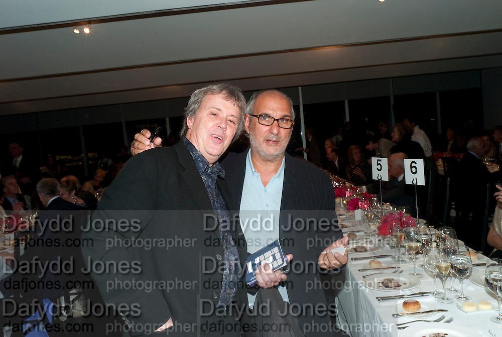TONY ELLIOT; ALAN YENTOB, Gerhard Richter: Panorama. Tate Modern. London. 4 October 2011. <br /> <br />  , -DO NOT ARCHIVE-© Copyright Photograph by Dafydd Jones. 248 Clapham Rd. London SW9 0PZ. Tel 0207 820 0771. www.dafjones.com.