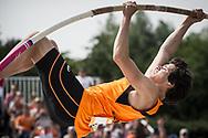 EYOF2013 Utrecht, polstokhoogspringen , Koen van der Wijst