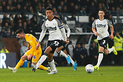 Curtis Davies in action during the EFL Sky Bet Championship match between Derby County and Preston North End at the Pride Park, Derby, England on 23 November 2019.