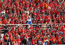January 12, 2019 - Abu Dhabi, Abu Dhabi, United Arab Emirates - Vietnamese fans    during Vietnam v Iran, AFC Asian Cup football, Nahyan Stadium, Abu Dhabi, United Arab Emirates on January 12, 2019  (Credit Image: © Ulrik Pedersen/NurPhoto via ZUMA Press)