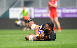 Onehunga Havili of Exeter Braves scores a try- Mandatory by-line: Nizaam Jones/JMP - 22/04/2019 - RUGBY - Sandy Park Stadium - Exeter, England - Exeter Braves v Saracens Storm - Premiership Rugby Shield