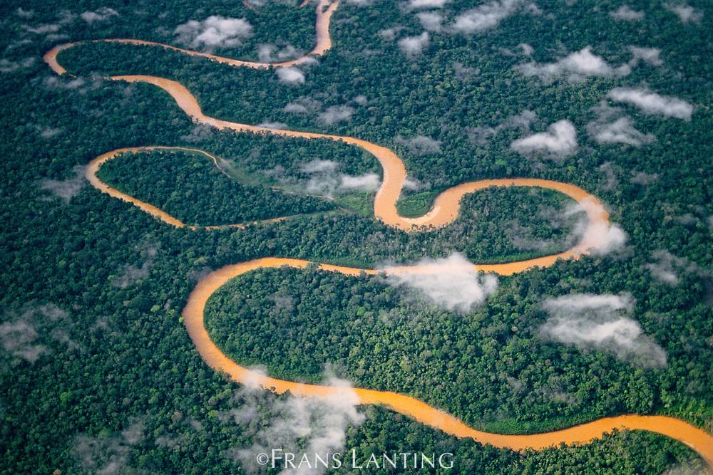 Meandering river, Tambopata National Reserve, Peru