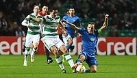 05/11/15 UEFA EUROPA LEAGUE GROUP STAGE<br /> CELTIC v MOLDE FK<br /> CELTIC PARK - GLASGOW<br /> Celtic's Nir Bitton (left) is tackled by Daniel Hestad