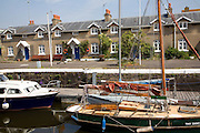 Old Dock cottages and boats, Hotwells, Bristol