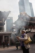 China, Shanghai. Jingan Buddhist temple, main courtyard