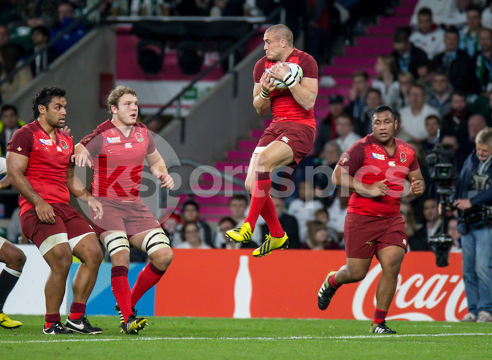 Mike Brown of England during the Rugby World Cup 2015 Pool A match between England and Fiji played at Twickenham Stadium, London on 18 September 2015. Photo by Liam McAvoy.