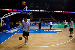 Players during practice session of Slovenian national basketball team at FIBA Europe Eurobasket Lithuania 2011, on September 13, 2011, in Kauno Arena,  Kaunas, Lithuania.  (Photo by Vid Ponikvar / Sportida)
