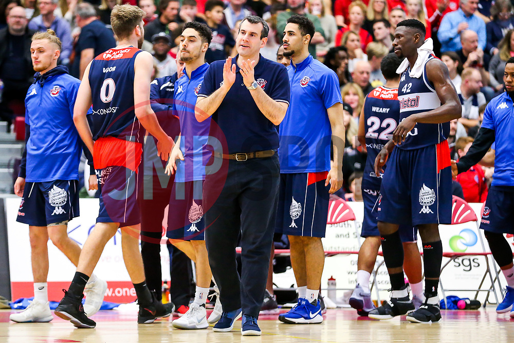 Bristol Flyers coach Andreas Kapoulas - Rogan/JMP - 06/01/2018 - BASKETBALL - SGS Wise Arena - Bristol, England. - Bristol Flyers v Newcastle Eagles - British Basketball League.