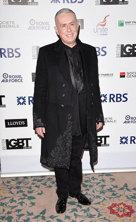 Holly Johnson attends The British LGBT Awards at The Landmark Hotel, London on Friday 24 April 2015
