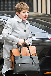 Downing Street, London, April 19th 2016. Leader of the House of Lords, Baroness Tina Stowell arrives at Downing Street for the weekly cabinet meeting.