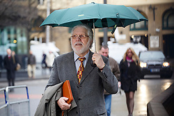 © licensed to London News Pictures. London, UK 30/01/2014. Former Radio One presenter Dave Lee Travis, real name David Patrick Griffin arriving at Southwark Crown Court in London on 30 January 2014. Photo credit: Tolga Akmen/LNP