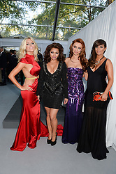 The Saturdays (Missing Rocelle) left to right, MOLLIE KING, VANESSA WHITE, UNA HEALY and FRANKIE SANDFORD at the Glamour Women of the Year Awards in association with Pandora held in Berkeley Square Gardens, London on 4th June 2013.