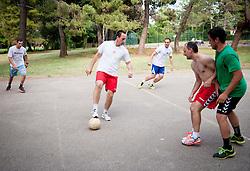 "Coaches during Handball Summer Camp named ""Rokometni tabor Urosa Zormana 2013"" on June 29, 2013 in Savudrija, Croatia. (Photo by Vid Ponikvar / Sportida.com)"